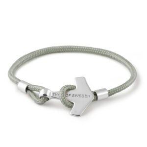 Light Grey & Silver Down bracelet