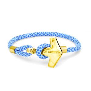 thor hammer bracelet sky blue gold 18k