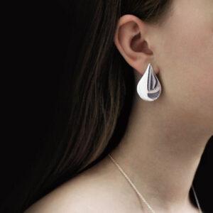 tear of freya earring sterling silver 935
