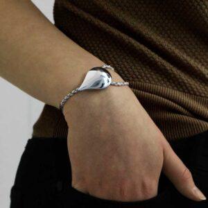 tear freya bracelet sterling silver 935 hand